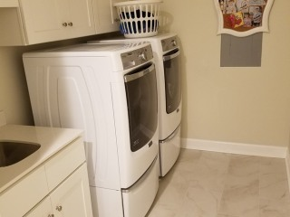 20170712_152344 New Laundry Room Tile and Cabinets