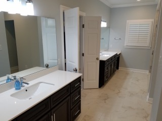 20170712_153139 New His and Hers Master Vanities and Floor